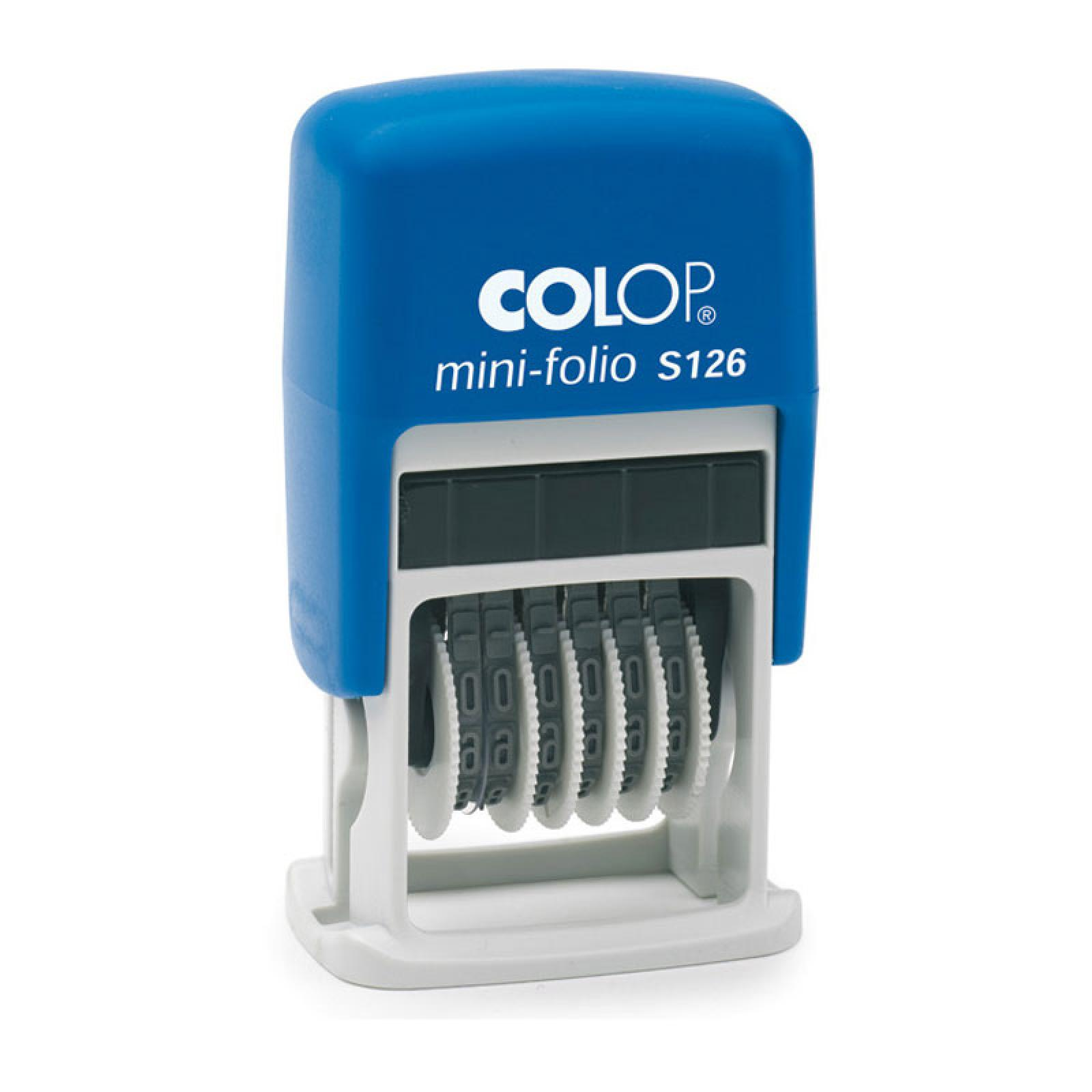 Stampila Colop Cifriera Mini-Folio S126
